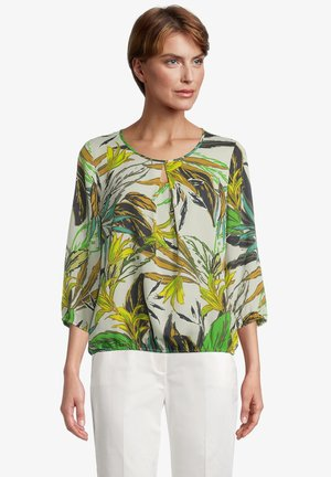 MIT BLUMENPRINT - Blouse - green/green