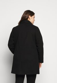 Dorothy Perkins Curve - MINIMAL SHAWL COLLAR COAT - Manteau classique - black - 2