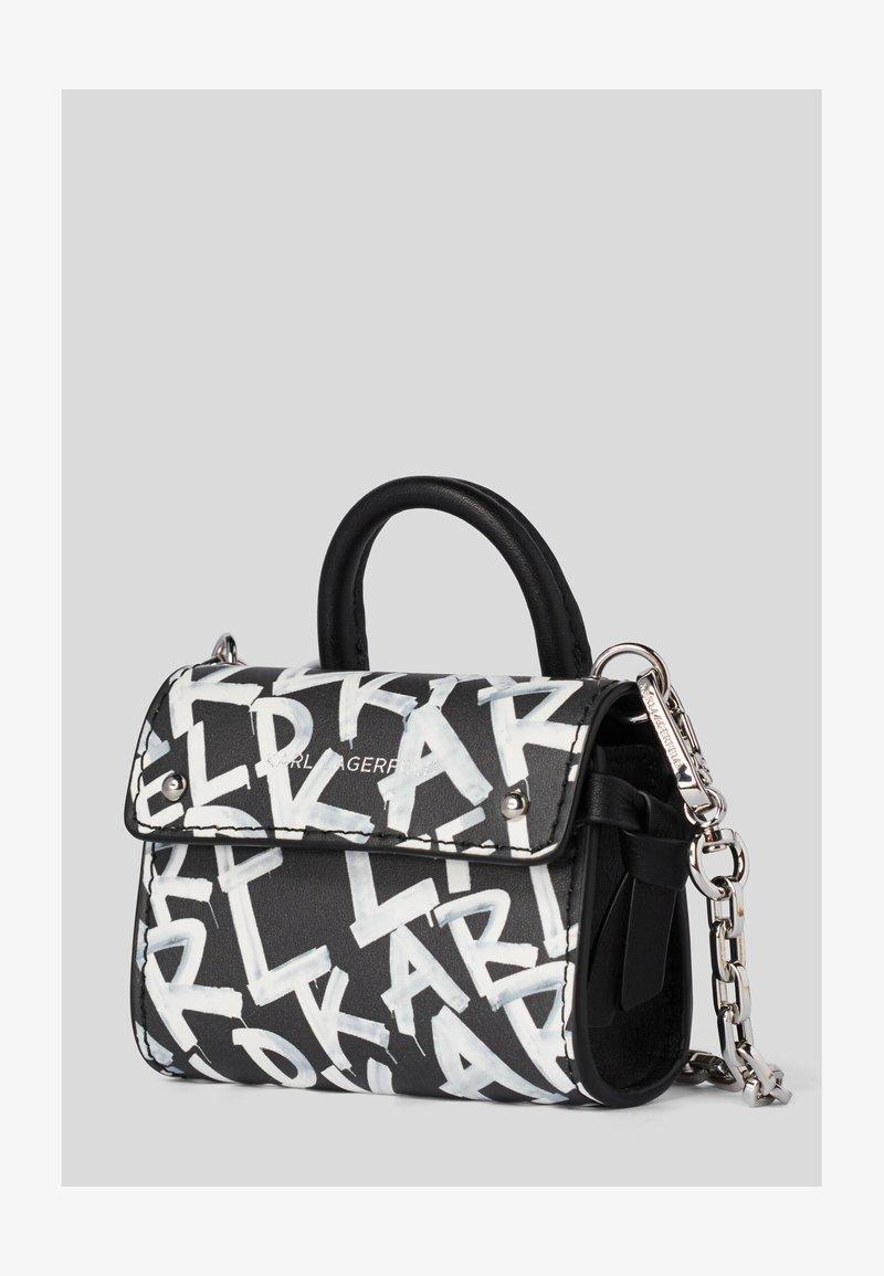 KARL LAGERFELD - Handbag - black/ white