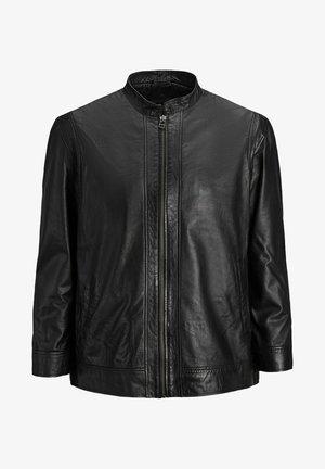 PLUS SIZE LEDERJACKE SCHAFLEDER - Leather jacket - black