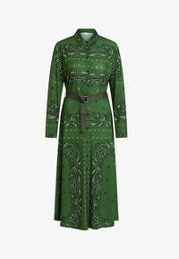 Oui - Shirt dress - green grey - 5