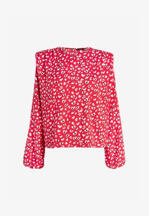 SHOULDER DETAIL - Blouse - red