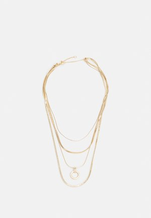 RING DROP MUTLIROW - Necklace - gold-coloured