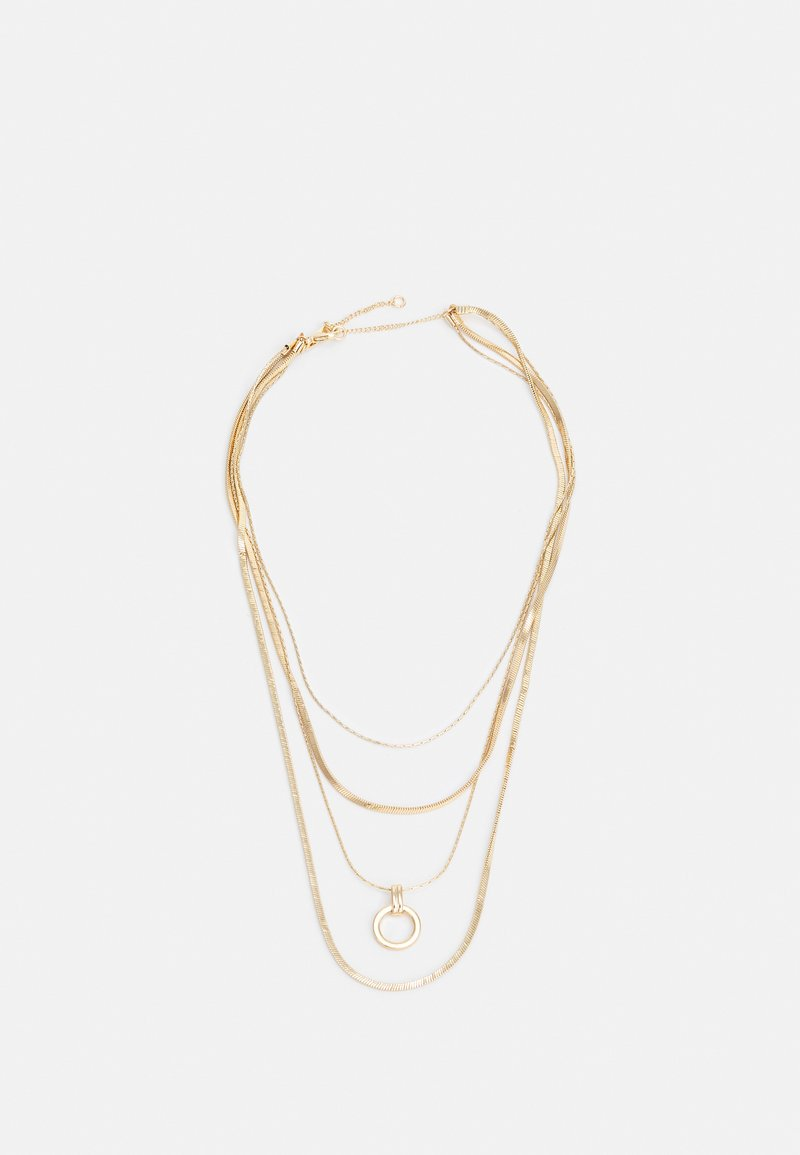 Topshop - RING DROP MUTLIROW - Necklace - gold-coloured
