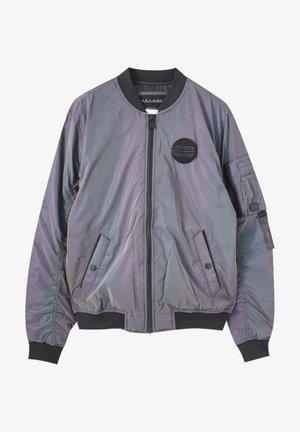 Bomber Jacket - mottled purple