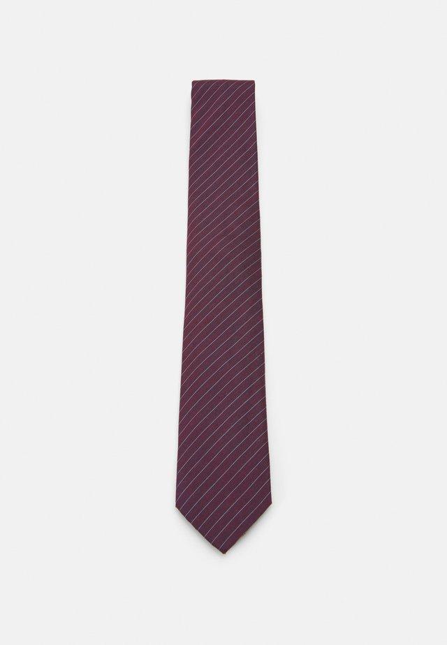 FINE SUIT STRIPE TIE - Tie - burgundy