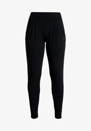 PANTS LONG LOOSE ROLL DOWN - Tracksuit bottoms - black