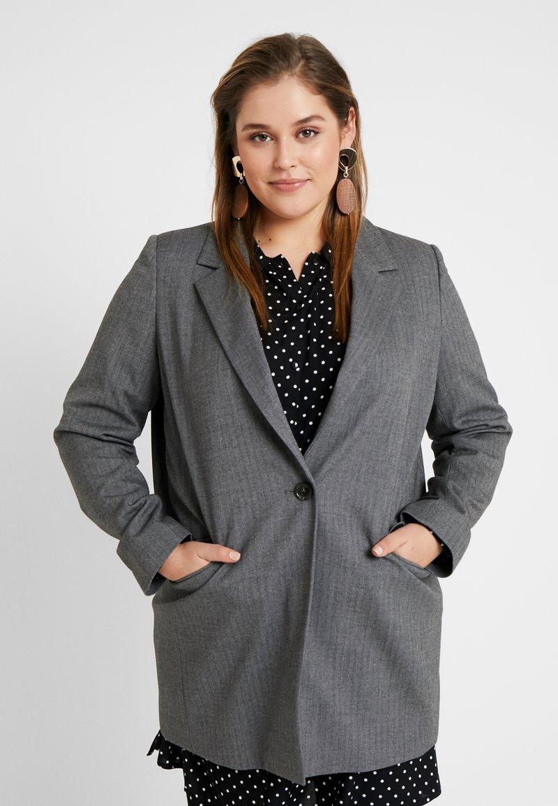Persona by Marina Rinaldi - CASTAGNA - Frakker / klassisk frakker - grigio scuro