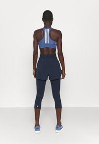 Sweaty Betty - POWER DOUBLE UP WORK OUT LEGGINGS - Tights - navy blue - 2