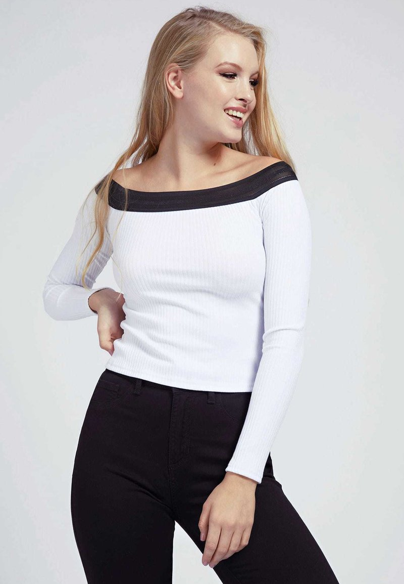 Guess - AMAL - Long sleeved top - weiß