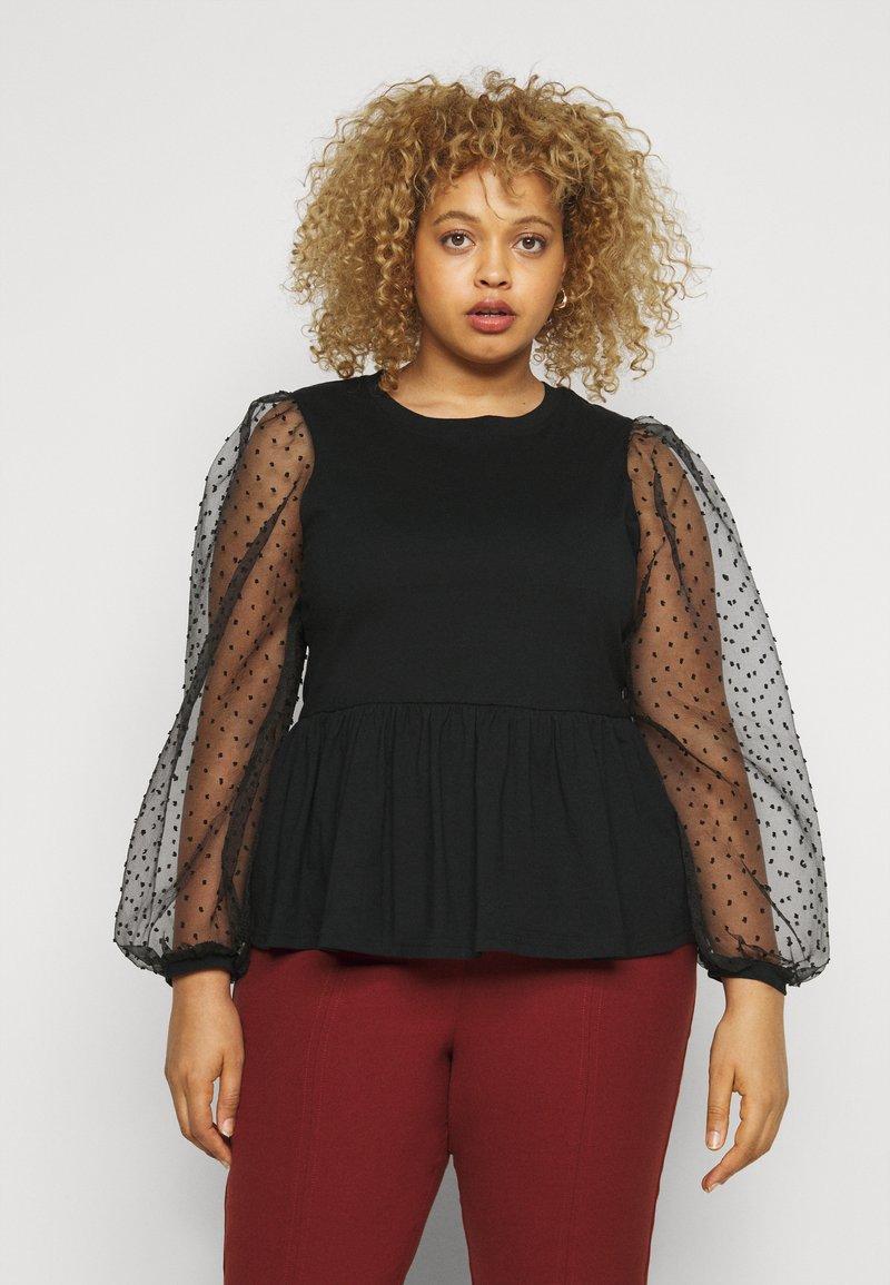Pieces Curve - PCRILLIE  - T-shirts med print - black