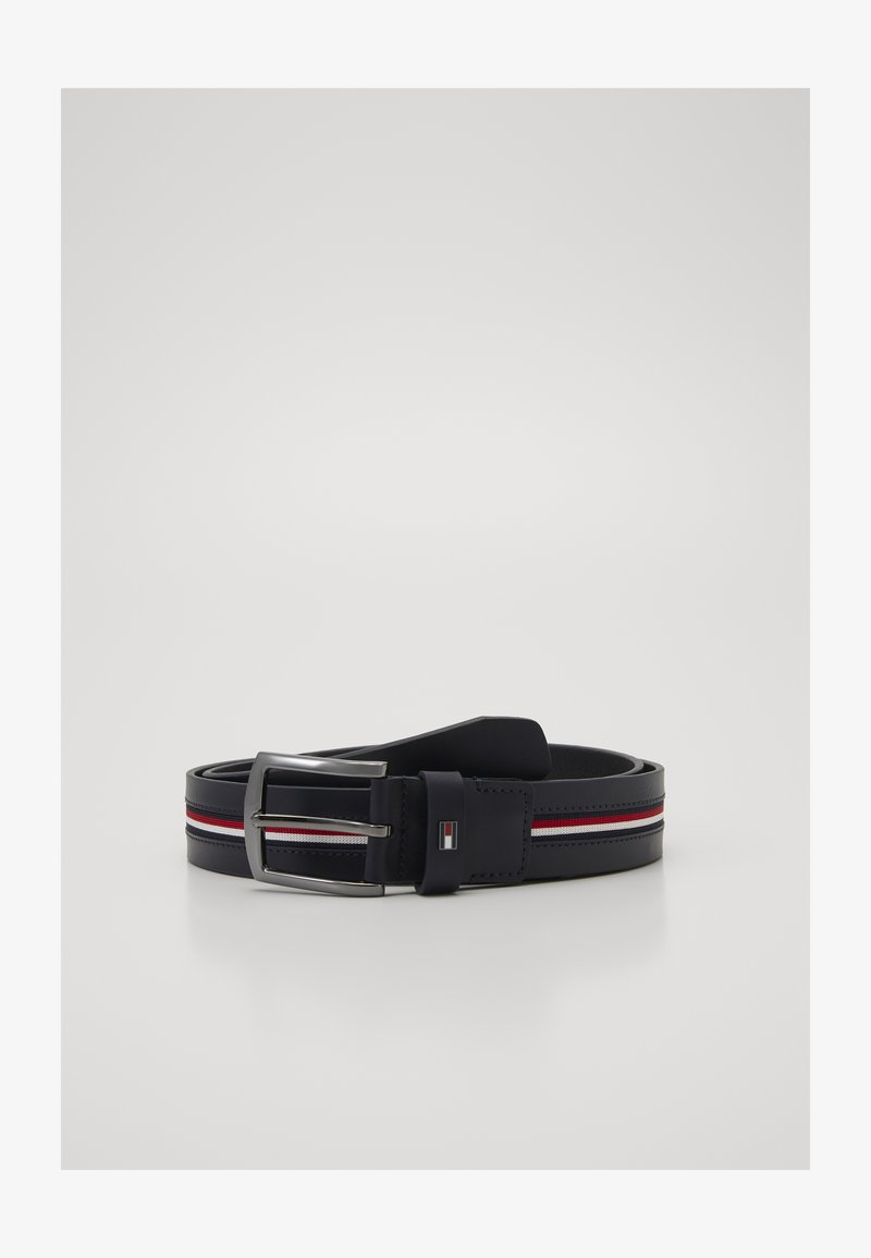 Tommy Hilfiger - DENTON WEBBING INLAY - Cinturón - blue