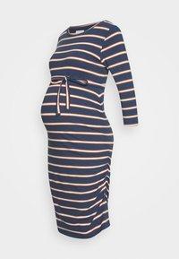 MAMALICIOUS - MLCARMEN DRESS  - Jersey dress - insignia blue/snow white - 0