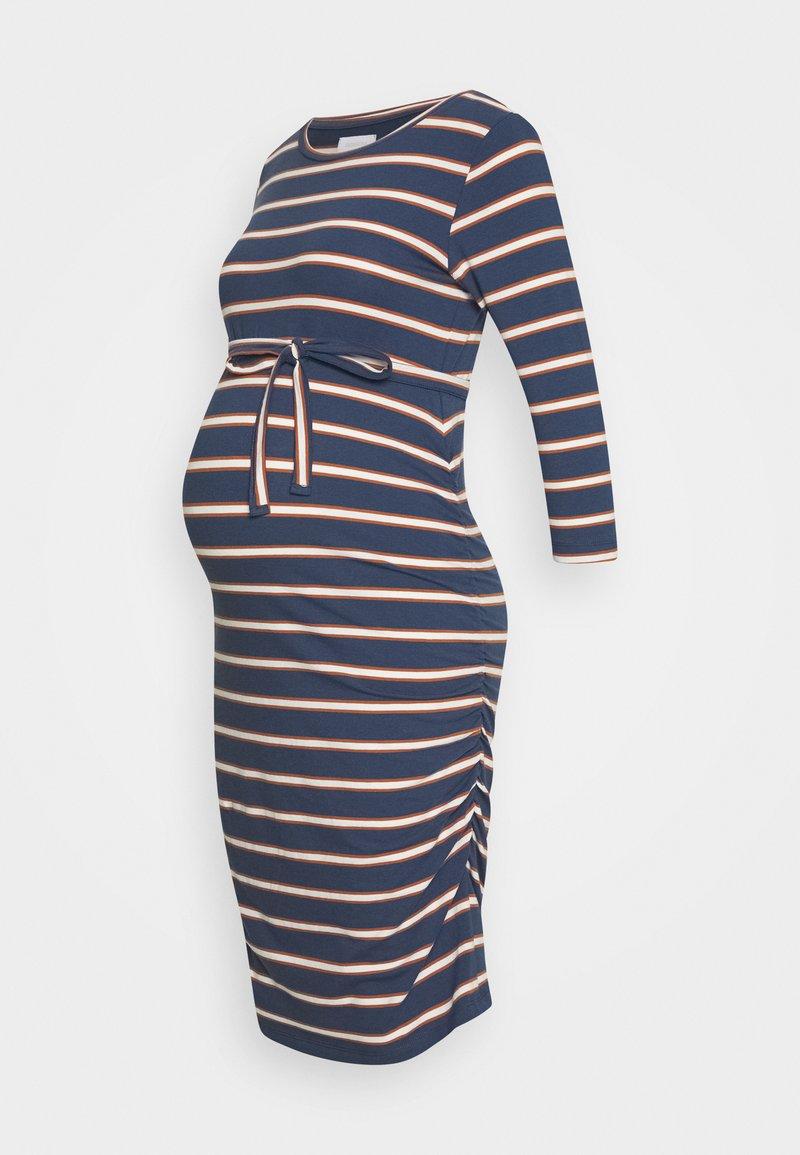 MAMALICIOUS - MLCARMEN DRESS  - Jersey dress - insignia blue/snow white