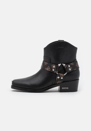 FULVIA - Cowboy/biker ankle boot - brown/ocra
