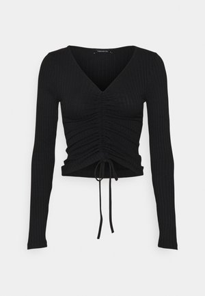LACIVERT - Long sleeved top - black