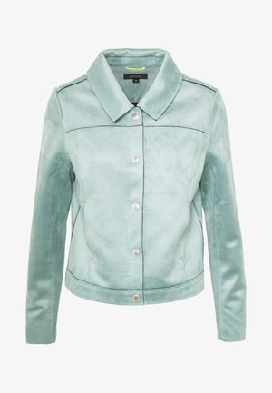 JACKET - Faux leather jacket - smokey blue