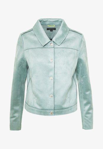 JACKET - Faux leather jacket - smokey blue