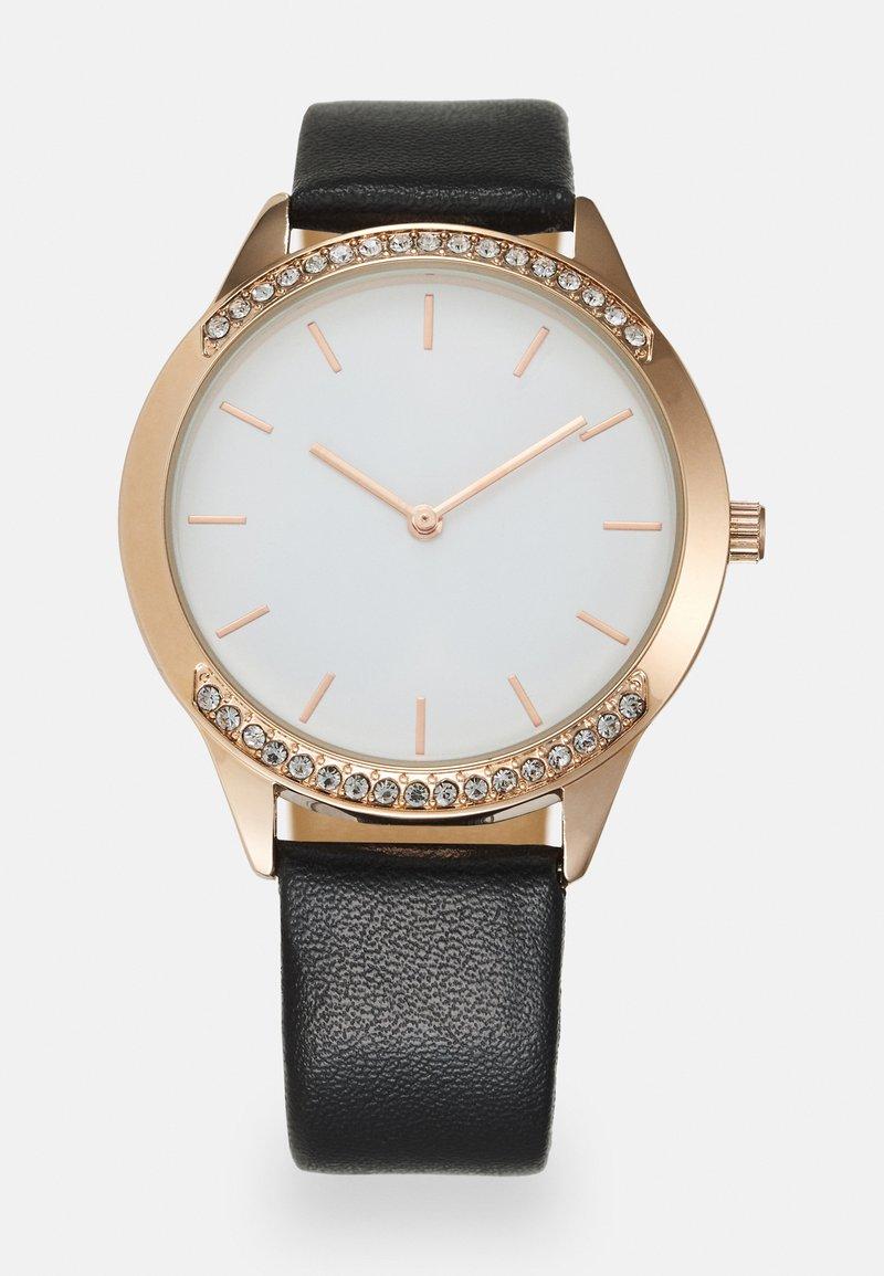 Anna Field - Watch - black/rose gold-coloured