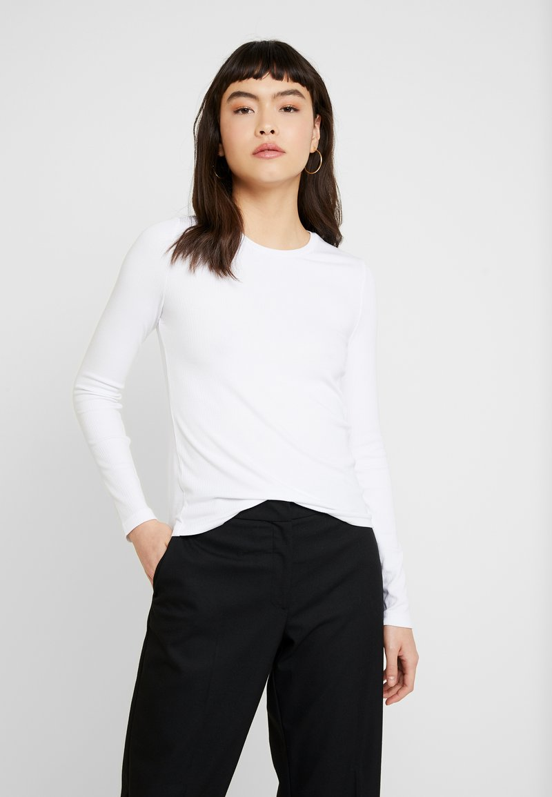 Banana Republic - CREW NECK SOLIDS - Long sleeved top - white