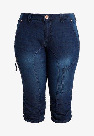 CAPRI - Denim shorts - dark blue denim