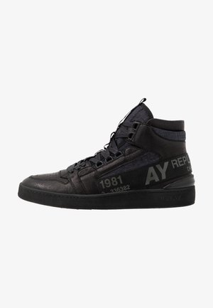 LUKE - High-top trainers - black/navy