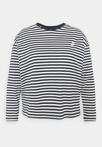 Pieces Curve - PCGWENDOLYN - Long sleeved top - sky captain/bright white - 0