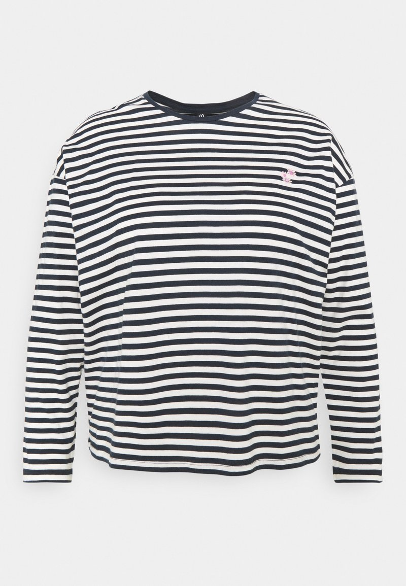 Pieces Curve - PCGWENDOLYN - Long sleeved top - sky captain/bright white