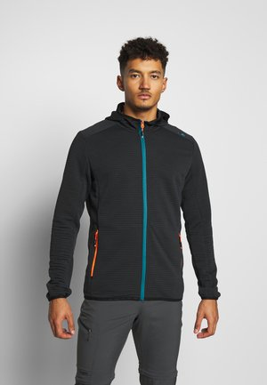 MAN JACKET FIX HOOD - Training jacket - antracite