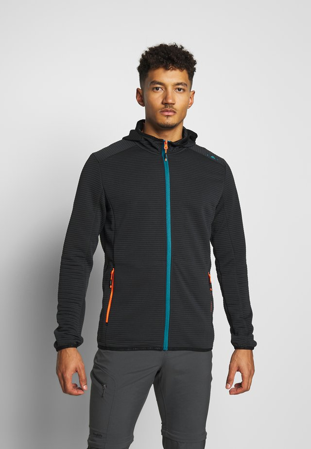 MAN JACKET FIX HOOD - Trainingsvest - antracite