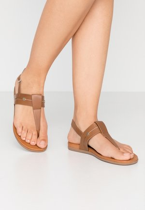SAGEE - T-bar sandals - cognac