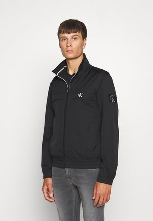 ZIP UP HARRINGTON - Lehká bunda - black