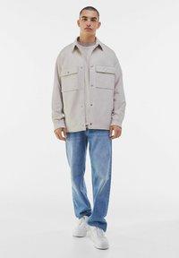 Bershka - Faux leather jacket - stone - 1