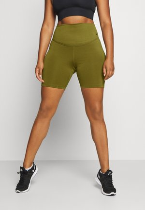 ONE SHORT PLUS - Leggings - olive flak/white