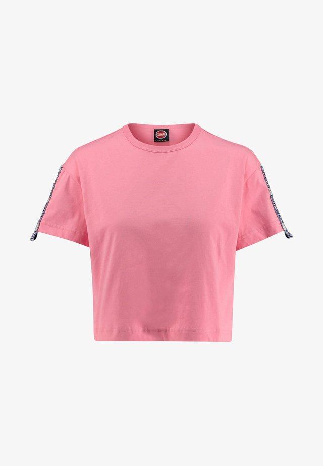COLMAR DAMEN T-SHIRT CROPPED - Print T-shirt - pink