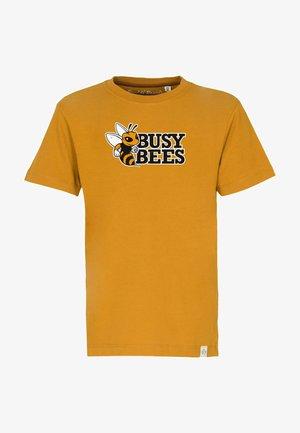 BUSY BEES - Print T-shirt - mustard