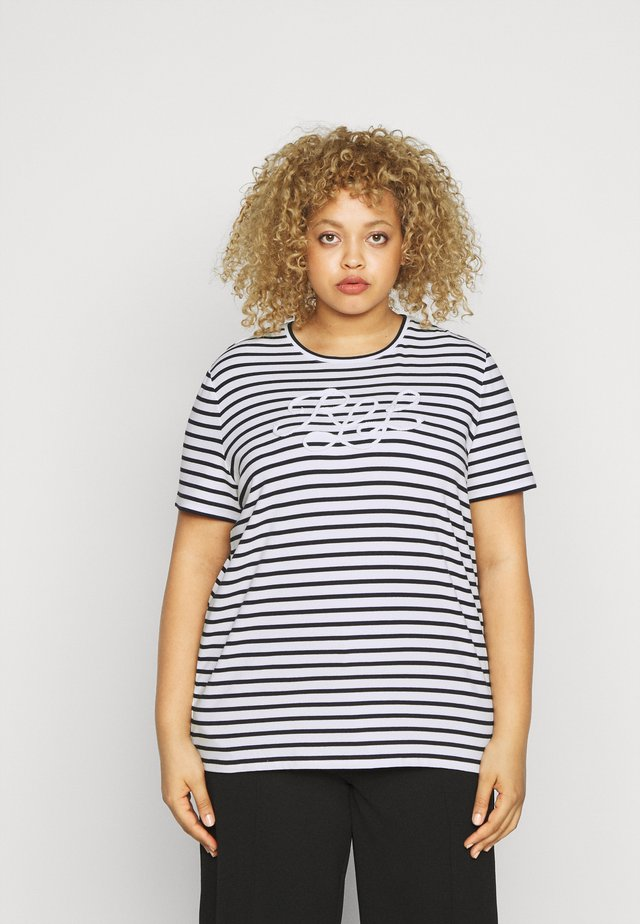 KATLIN SHORT SLEEVE - Print T-shirt - white/lauren navy