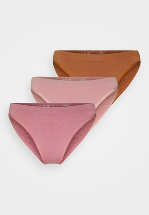MARKIE PANT 3 PACK - Slip - rose/orchid/caramel