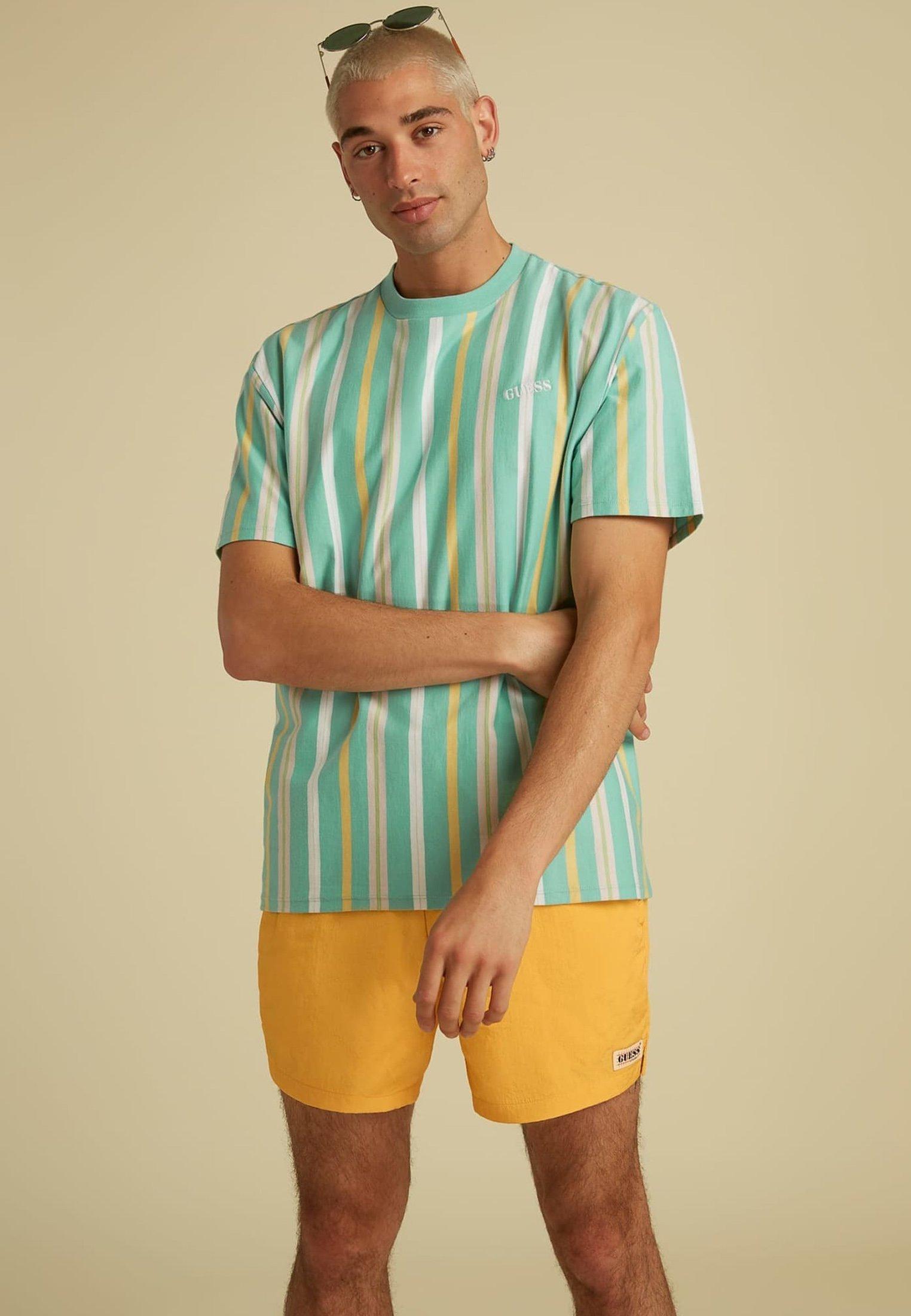 Homme STREIFENMUSTER LOGO - T-shirt imprimé