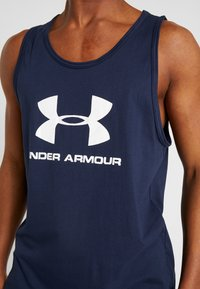 Under Armour - SPORTSTYLE LOGO - Top - dark blue/white - 5