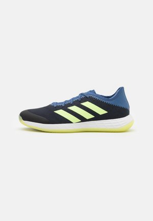 ADIZERO FASTCOURT PRIMEBLUE - Handballschuh - legend ink/hi-res yellow/blue