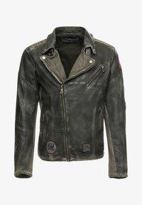 Freaky Nation - ROCKATANSKY - Leather jacket - oliv - 5
