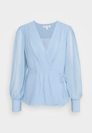 WRAP PLEAT BLOUSE - Blouse - hydrangea