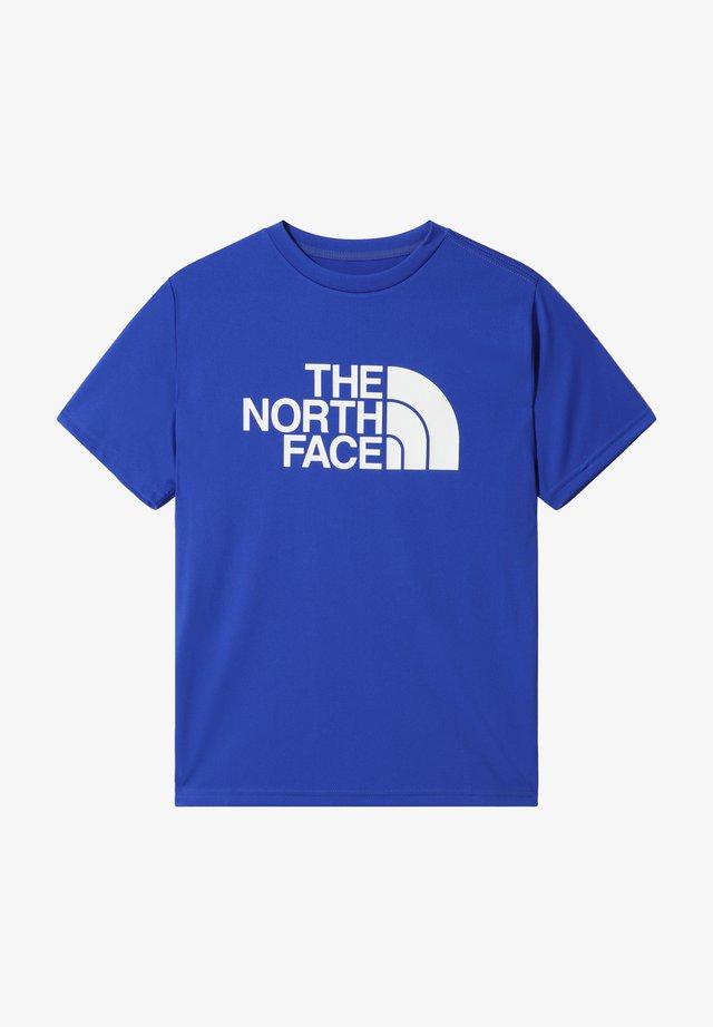 B S/S REAXION 2.0 TEE - Camiseta estampada - tnf blue/tnf white
