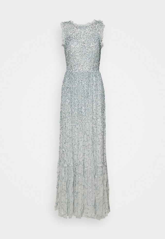 RUFFLE ALL OVER SEQUIN MAXI DRESS - Occasion wear - ice blue
