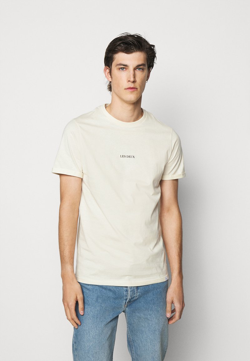 Les Deux - LENS - Print T-shirt - ivory/black