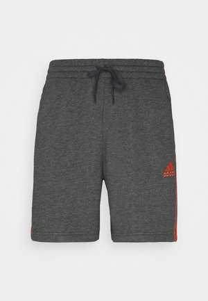 Sports shorts - dark grey heather/true orange