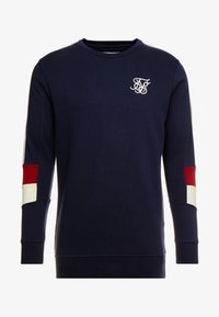 SIKSILK - RETRO PANEL TAPE CREW - Sweatshirt - navy/red/off white - 3