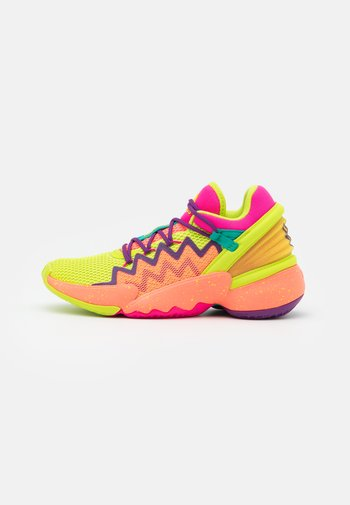 D.O.N. ISSUE 2 UNISEX - Basketball shoes - shock pink/semi solar slime/footwear white