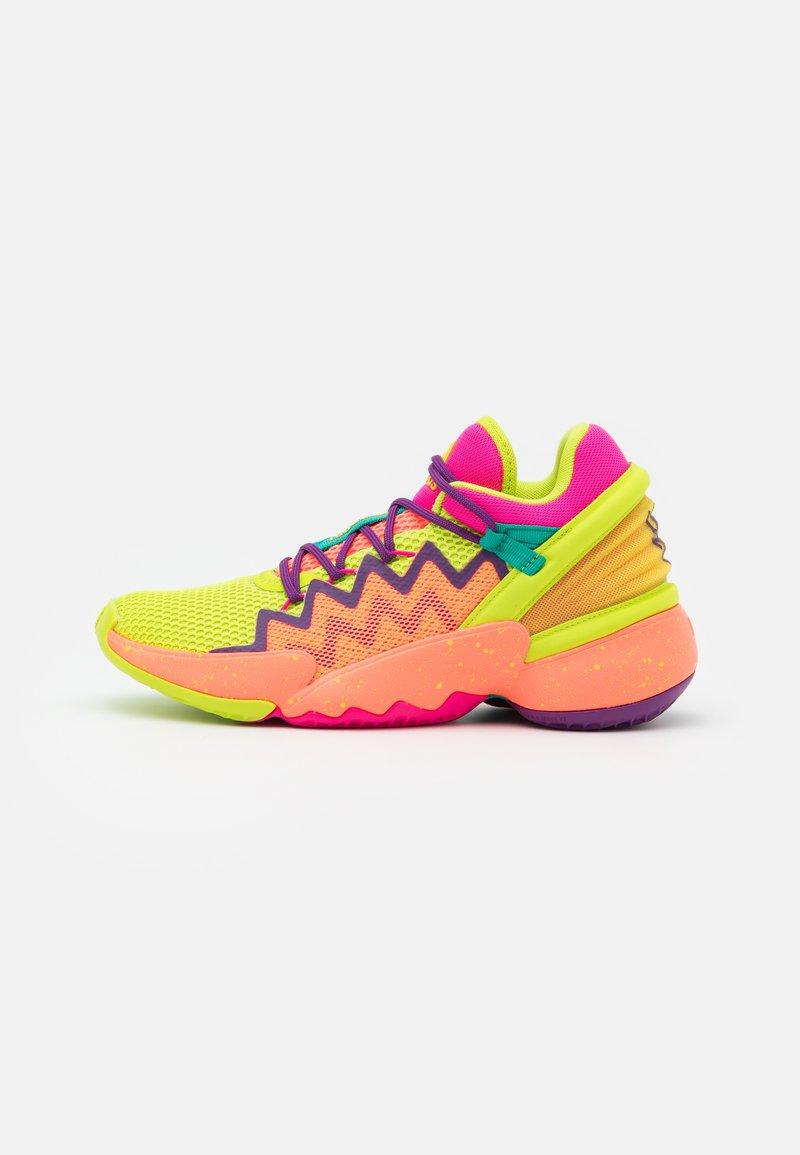 adidas Performance - D.O.N. ISSUE 2 UNISEX - Basketbalové boty - shock pink/semi solar slime/footwear white
